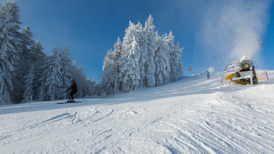 Panoramahang im Skigebiet Kappe Winterberg