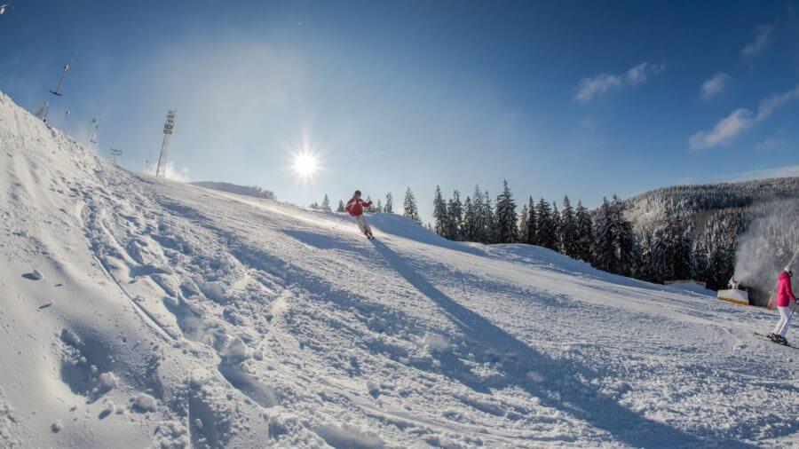 Käppchenhang im Skigebiet Kappe Winterberg