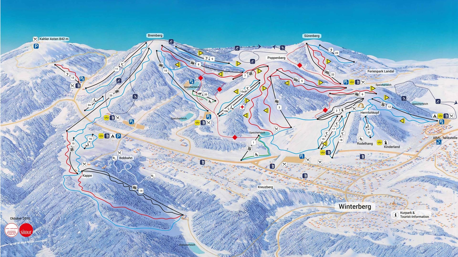 Panoramakarte Skiliftkarussell Winterberg